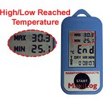 Maxilog LCD Display - High & Low Temperature Reached