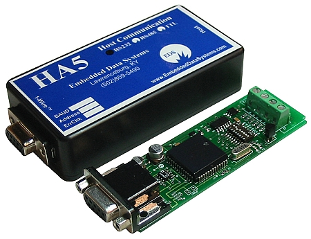 HA5 - ASCII RS232 / RS485 1-Wire Host Adapter (Discontinued)